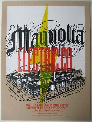 Magnolia Electric Co Poster W/ Alasdair Roberts 2005 Concert Signed And Numbered • 236.51£