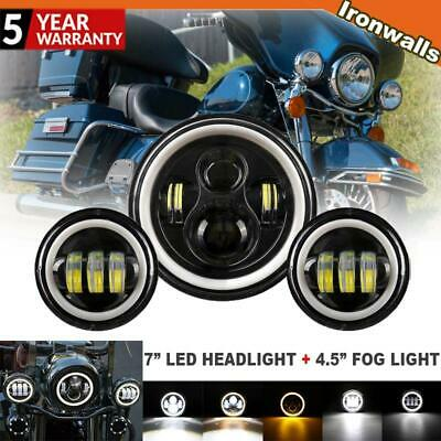 AU95.29 • Buy 7  LED Headlight+ 4.5inch Passing Lights For Harley Electra Glide Ultra Classic
