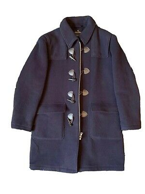 $220 • Buy Brooks Brothers Navy Duffle Coat Large L With Hood NWOT