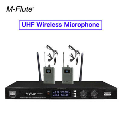 640-690MHZ UHF Wireless Microphone Set With Headset With Lavalier For Business • 198.79£