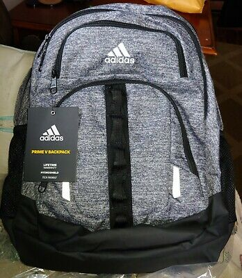 $49.99 • Buy Adidas Prime V Backpack Bag ONIX JERSEY/BLACK Laptop Student New W/Tags NWT