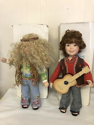 $ CDN189.47 • Buy Danbury Mint Dylan Harmony Hippie Porcelain Doll Lot Flower Love Peace & Boxes