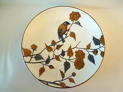 Minton Aesthetic Plate Flowers Bird Leaves Gold Silver HP Gilded Rims 1891 8.1  • 66.63£