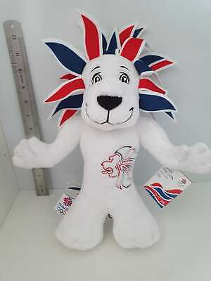 Olympics White Pride Lion Official Team GB 2012 Soft Toy Mascot Memorabilia  • 10£