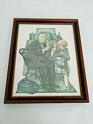 $ CDN39.94 • Buy Vintage Norman Rockwell Marmont Hill Doctor And The Doll Repro Canvas Framed