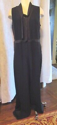$49.99 • Buy NWT Banana Republic Women's Tie-Neck Tuxedo Jumpsuit Size 12 BLACK-New
