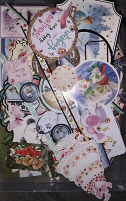 Craft Job Lot Hunkydory Kanban Toppers Frames Card Making Scrapbook Foiled Gems • 3.99£