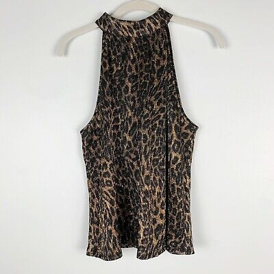 $23.95 • Buy Womens Zara Knit Animal Print Halter Size Large Multicolor