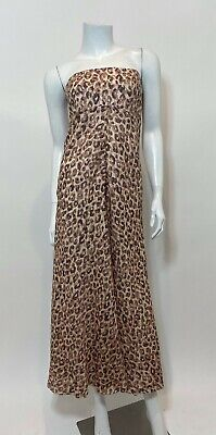 $175 • Buy Zimmermann Melody Strapless Maxi Dress In Leopard Size 0/XS $590 (ALTERED)