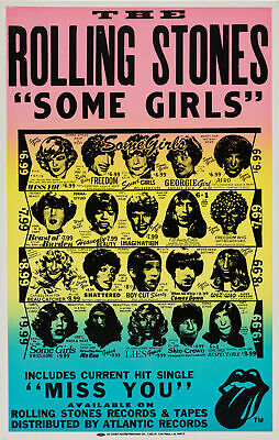 £8.95 • Buy ROLLING STONES - Some Girls 1978 Promotional Poster Quality Print