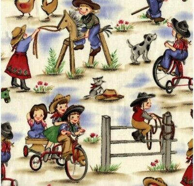 Lil Cowgirl LAMINATED Cotton Fabric Per METRE Michael Miller • 10£