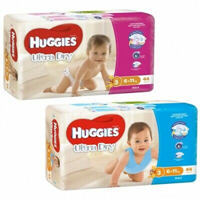 AU79.85 • Buy New Huggies Ultradry Essentials Nappies - White Boy Size 3, Carton (22 X 4 Pack)