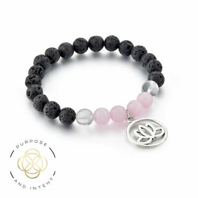 AU14.95 • Buy Pink Rose Quartz Aromatherapy Diffuser Bracelet Essential Oil Lava Beads