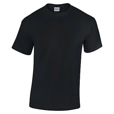 Gildan Adult Mens Ringspun T-shirt Navy Black Red Charcoal S M L XL 2XL 3XL 4XL • 2.99£