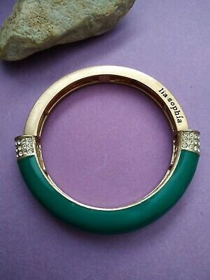 $ CDN11 • Buy Lia Sophia Teal Green Goldtone Expansion Stretch Bangle Bracelet