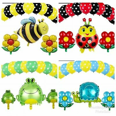 £8.75 • Buy 13pcs Ladybird Set Foil Latex Balloons Bee Buzz Party Summer Fun Birthday Kids
