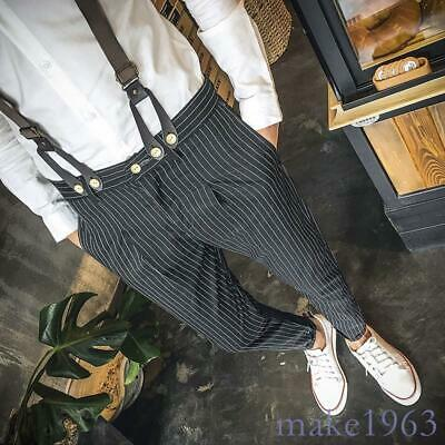 $36.62 • Buy Fashion Strips Mens Suspenders Trousers Leisure Jumpsuits Overalls Pencil Pants