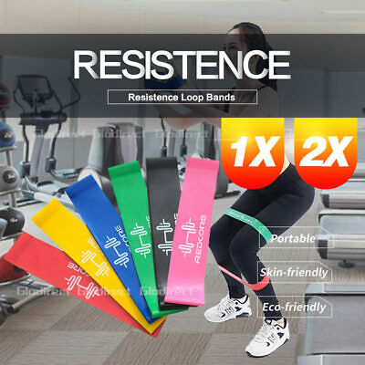 AU5.98 • Buy Resistance Bands Power Strength Yoga Exercise Fitness Gym Crossfit Workout 2020