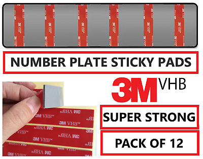 250 x Auto Choice Car Number Plate Sticky Fixing Foam Pads