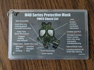 $9.95 • Buy M40/m42 Gas Mask Pmcs Instructions Laminated Cards M40a1,military,nbc,pmcs
