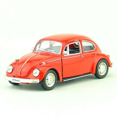 Vintage VW Beetle 1967 1:36 Model Car Diecast Gift Toy Kids Pull Back Red • 9.19£