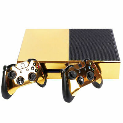 $10.99 • Buy Hot Glossy Vinyl Decal Skin Stickers Cover For Xbox One S Console +2 Controller
