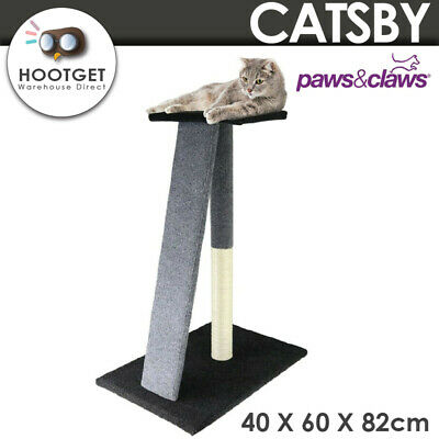 AU43.95 • Buy CATSBY Cat Scratching Post Tree Trees Scratcher Tower Condo House Furniture 82cm
