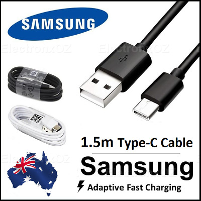 AU5.99 • Buy 1.5m Genuine Samsung S9 S8 Plus Note 9 Type C USB C Charger Charging Fast Cable