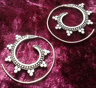 £7.99 • Buy Silver Plated Spiral Earrings - Indian, Boho, Ethnic, Festival, Ladies Gift
