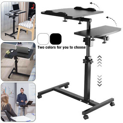 Adjustable Portable Laptop Lazy Table Stand Lap Sofa Bed PC Notebook Desk UK • 19.99£