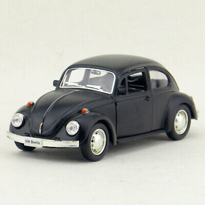 Vintage VW Beetle 1967 1:36 Model Car Diecast Gift Toy Kids Pull Back Black • 9.19£