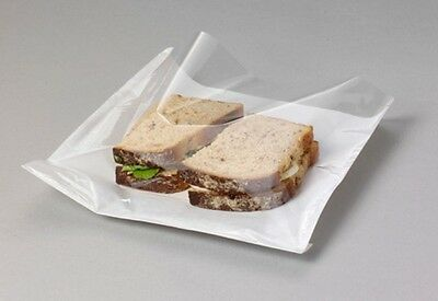 £4.99 • Buy  CLEAR Film Front Paper Cellophane Food Bags White Window Sandwich 8.5  X 8.5