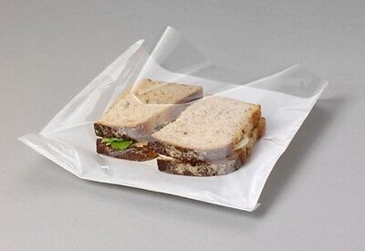 £2.99 • Buy CLEAR Film Front Paper Cellophane Food Bags White Window Sandwich  7  X 7