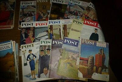 $ CDN100.54 • Buy The Saturday Evening Post Lot Of 15 Vintage Issues 1950-1960 Ads/Norman Rockwell