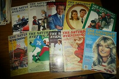 $ CDN49.98 • Buy The Saturday Evening Post Lot Of 10 Vintage 1970s Kurt Vonnegut/Norman Rockwell+