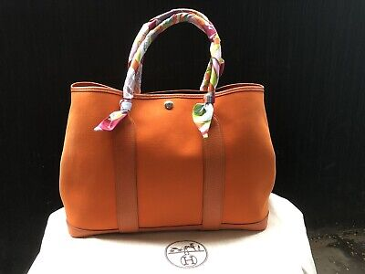 AU1750 • Buy Hermes Garden Party 36 Orange Tote Bag P Stamp