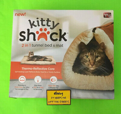£14.50 • Buy ❤️Kitty Shack 2-in-1 Tunnel Bed Pet Mat Cat Puppy AS SEEN ON TV Fur Cozy Cave❤️