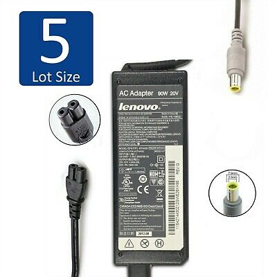 $ CDN53.97 • Buy Lot Of 5 Genuine Lenovo ThinkPad Laptop AC Charger Adapter 90W 20V 4.5A ROUND