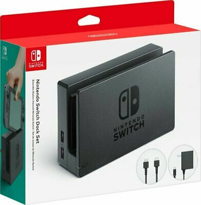 $89.99 • Buy Nintendo Switch Dock Witch Charger & HDMI Cable -  Black (HACACASAA) Original™