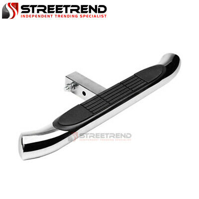 $55 • Buy 3  Chrome Rear Hitch Step Bar Bumper Guard Trailer Tow Mount For 2  Receiver SD