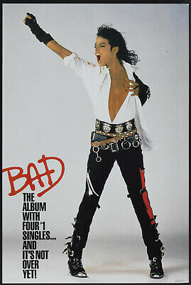 Michael Jackson BAD Promotional Poster (1987)  - Wall Art Poster • 8.95£