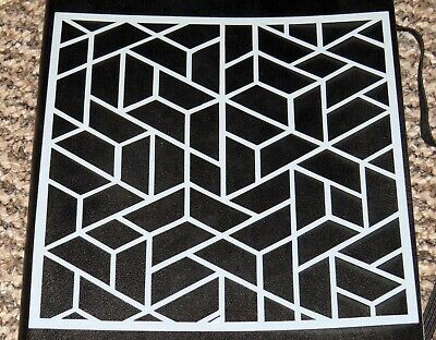 £2.99 • Buy Crazy Paving , Abstract Geometric Stencil Mask Template  – BNIP & Free P&P