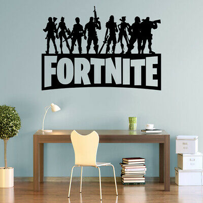 Fort Decals Nite Wall Stickers Silhouette Characters PS4 Xbox Vinyl Wall Art F3 • 5.99£