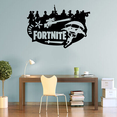 Fort Decals Nite Wall Stickers Silhouette Characters PS4 Xbox Vinyl Wall Art F0 • 5.99£