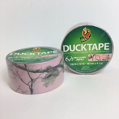 $17.59 • Buy Duck Tape Brand Duct Tape RealTree Pink Camouflage Design Camo Lot Of 2 New