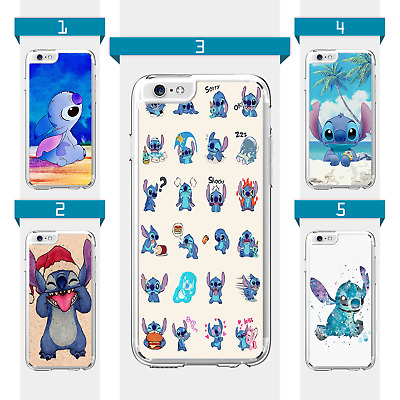 Disney Lilo Stitch Anime Cartoon Case For IPhone 6 7 8 X XS XR SE 11 12 Pro Mini • 6.99£