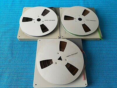 $ CDN186.01 • Buy 3 AGFA Metal Reels 7 Inch / 18 Cm With Band & Case - VERY RARE!