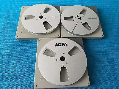$ CDN159.25 • Buy 3 AGFA Metal Reels 7 Inch / 18 Cm Without Band & Case - VERY RARE!
