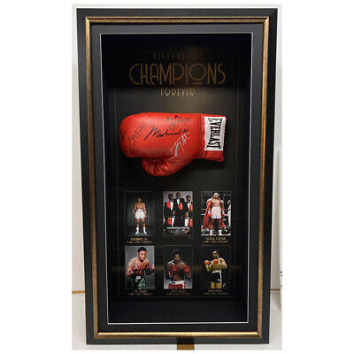 AU4995 • Buy World Heavyweights Hand Signed Framed Boxing Gloves Muhammad Ali Joe Frazier