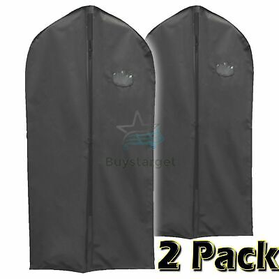 £3.95 • Buy 🔥2 Pack Large Hanging Suit Bags Dress Coat Jacket Clothes Cover Dust Protector